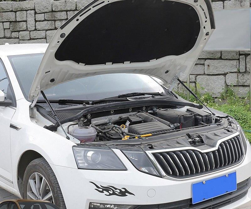 Pour Skoda Octavia MK3 2014-2019 couvercle de moteur en acier inoxydable tige de Support Support de capot hydraulique poteaux ressorts à gaz