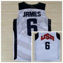 0c9fd65c4 Ediwallen 2012 USA Dream Team Ten 6 LeBron James Jersey Men Basketball Navy  Blue White All