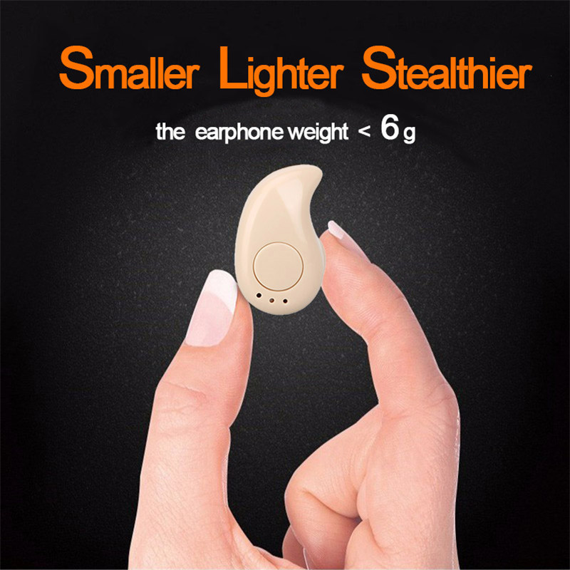 Mini S530 Bluetooth Earphone Portable Stealth In-Ear Wireless Earpiece Sports Handsfree Headset With Mic Stereo Music for phone newest k1 wireless mini bluetooth earphone handsfree with 900ma power bank in ear headset music stereo single ear headset
