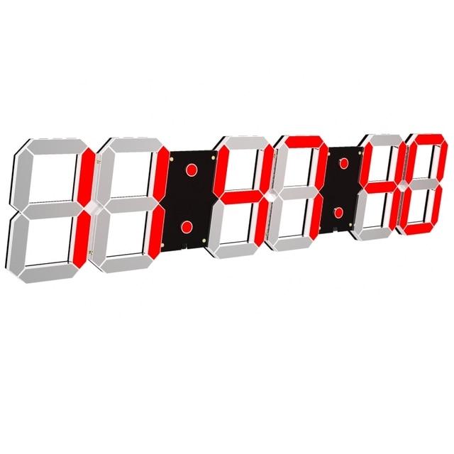 Giảm giá chỉ ngày hôm nay digitalwall Đồng Hồ LED Gương Đồng Hồ Đa Chức Năng Snooze Hiển Thị Thời Gian Ban Đêm Ánh Sáng LCD Bảng USB Cáp