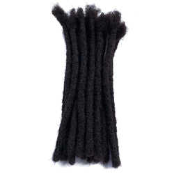 YONNA 100% Remy Human Hair Dreadlocks Extensions Medium Sized Full Handmade 0.8cm/1/3