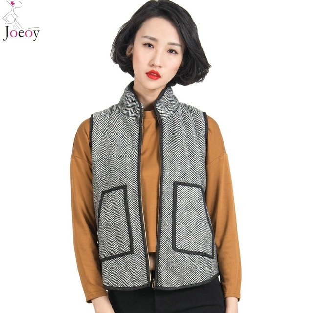 Designer Inspired Herringbone Quilted Cotton Puffer Vest Small-Xlarge 2016 Spring New Arrival Bestseller