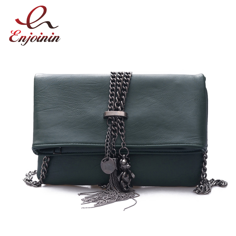 New Punk fashion metal tassel pu leather folding envelope bag clutch bag ladies shoulder bag purse crossbody messenger bag new punk fashion metal tassel pu leather folding envelope bag clutch bag ladies shoulder bag purse crossbody messenger bag