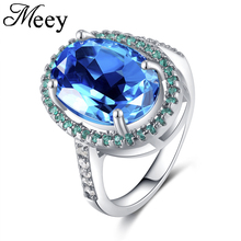 Best-selling 925 Sterling Silver Lady ring classic fashion quality master sapphire engagement anniversary gift party package