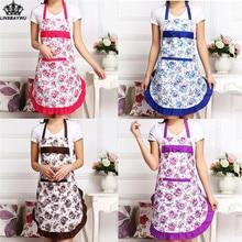 097caaa1b4f610 Top Seeling Frauen Floral Wasserdichte Anti-öl Küche Kochen Restaurant  Reinigung Schürze Kreative Schürzen für