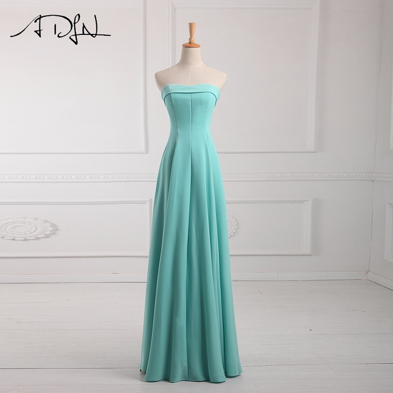 ADLN Strapless Long Bridesmaid Dresses vestido madrinha longo robe de demoiselles d honneur pour mariage imported party dress 9