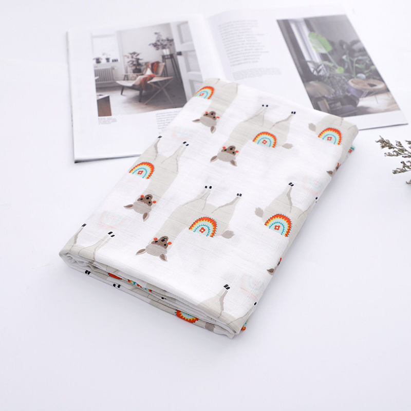 Bamboo Muslin Baby Blanket Swaddle For Newborns Baby Bath Towel Soft Baby Blanket
