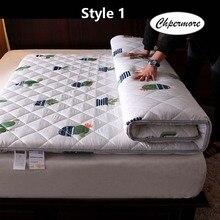 Chpermore épaississement ponçage impression matelas Tatami simple double pliable matelas couvre lits roi reine double taille