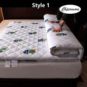 Image 1 - Chpermore thickening Sanding print Mattress Tatami Single double Foldable Mattresses Bedspreads King Queen Twin Size
