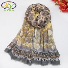 1PC Cotton Women Long Scarf Flower Soft 2019 Spring New Thin Summer Ladys Viscose Shawls Ethnic Style Female Autumn Wraps