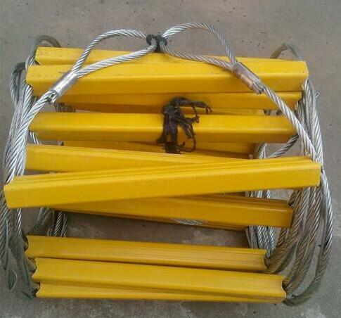 10M High strength Steel wire Rope ladder Escape Folding Ladders Fire ladder