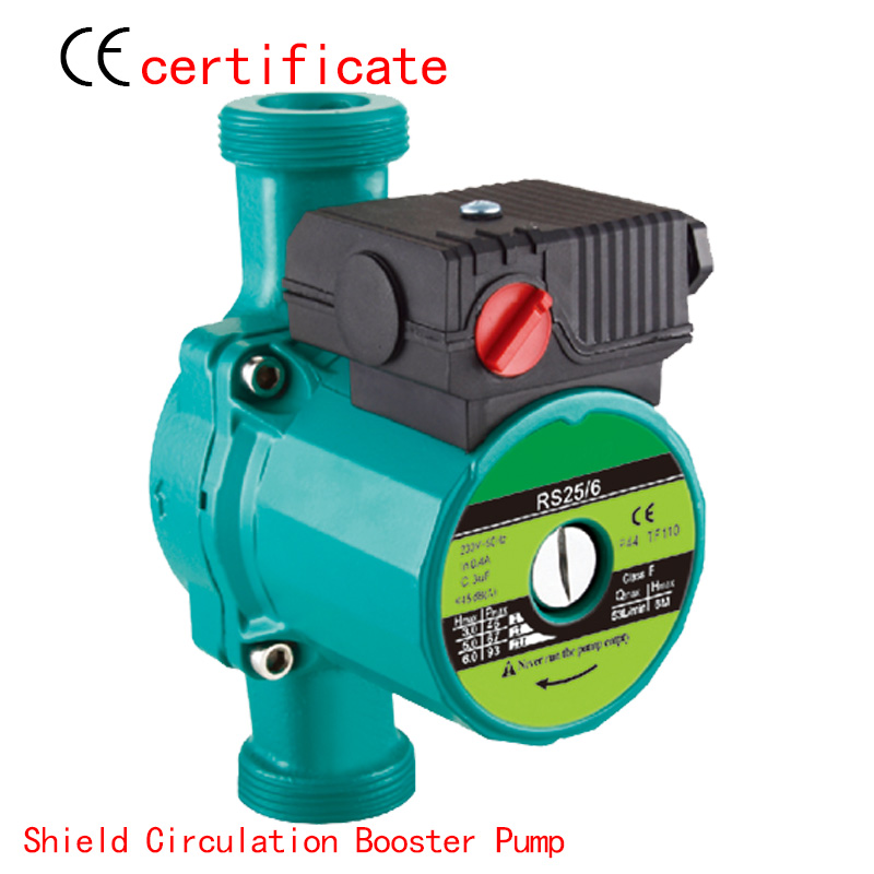 CE Approved shield circulating booster pump RS25-6, use for household pipe, shower, air conditioning, pressurized for industry. direction booster pump reorder rate up to 80% booster pump for fire fighting