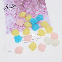 JOJO BOWS 10pcs DIY Craft Supplies Solid Shell Planar Resin Patches Accessories Hair Bows Phone Sticker Apparel Decoration