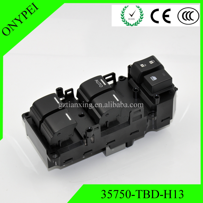 35750-TBD-H13 35750-TB0-H01 Power Window Master Control Switch For 2008-2012 Honda Accord 2.4L 35750-TA0-A02 35750-TC0-P0235750-TBD-H13 35750-TB0-H01 Power Window Master Control Switch For 2008-2012 Honda Accord 2.4L 35750-TA0-A02 35750-TC0-P02