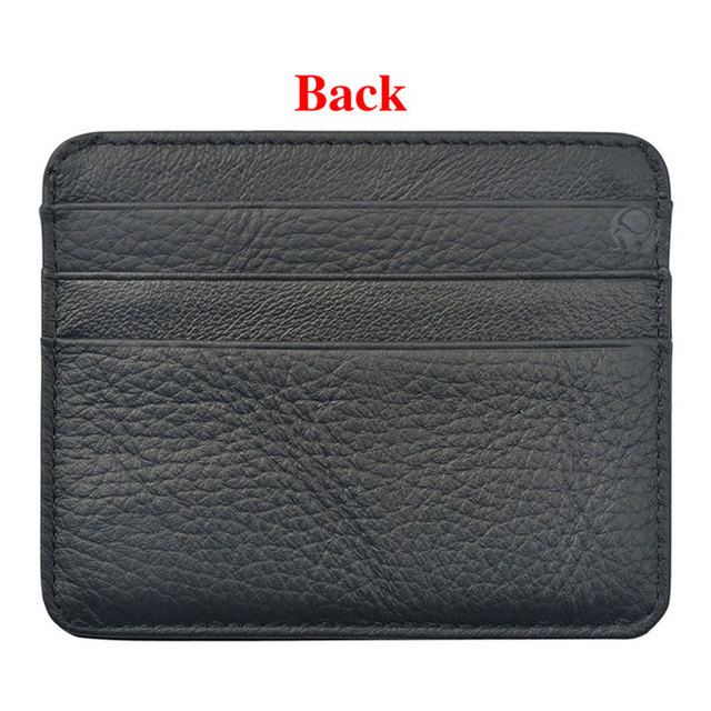 New Arrival Mini Wallets 12 Colours Ultra-thin Card Holder Mens Business Small Genuine Leather Purse Leather Card Case 6 Slots 2