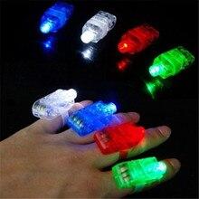 Новое поступление 4 шт. Набор пальчиковых огней светодиодный Светящиеся Кольца вечерние лазерные Кольца Неоновые светящиеся лампы дропшиппинг