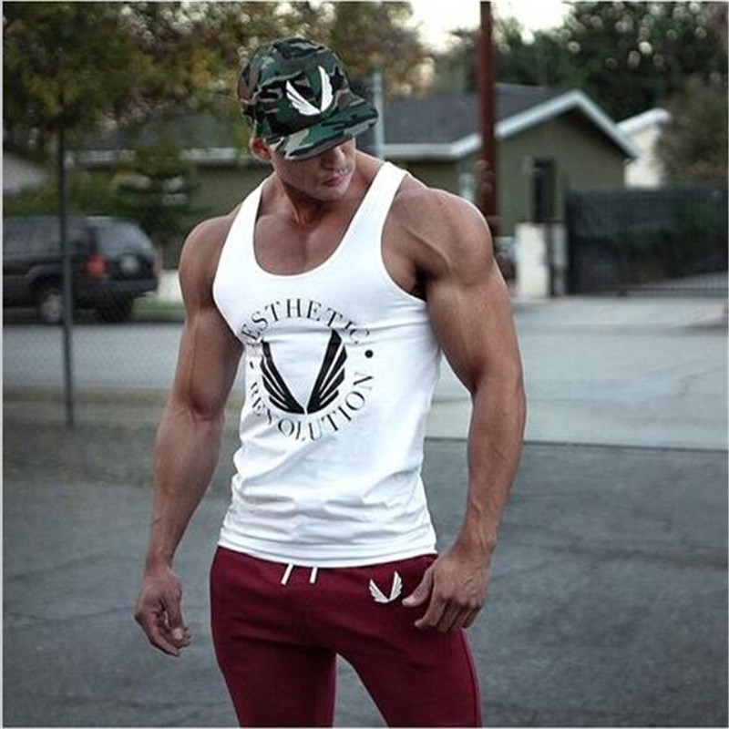 New Gym Muscle Bodybuilding Black Leather Fitness Lifting: ⊱Men Bodybuilding Tank Tops Gyms ᗜ Ljഃ Muscle Muscle