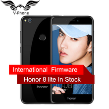"International Firmware Huawei Honor 8 Lite 4G LTE Mobile Téléphone 3 GB 32 GB Kirin 655 Double SIM 5.2 ""12MP Caméra 3000 mAh D'empreintes Digitales"