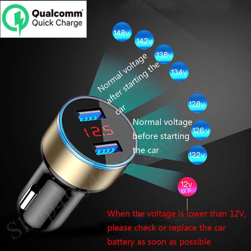 Wyświetlacz LED 3.1A 5 V podwójna ładowarka samochodowa USB ładowarka do telefonu dla Toyota alphard Tundra PRADO 4runner Avensis Aygo REIZ akcesoria samochodowe