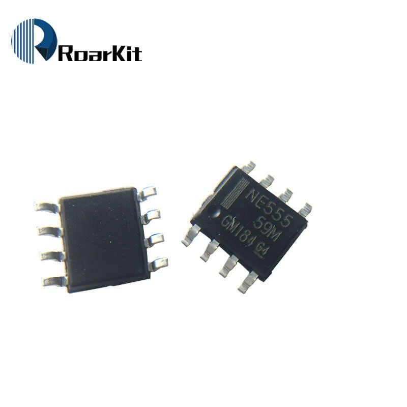 10 unids/lote nueva NE555 NE555P NE555N 555 temporizadores DIP-8/SOP-8 SMD NE555DR IC