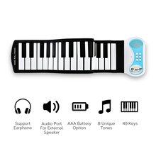 37-клавиша портативное фортепиано в рулоне с рогом Портативный наматывания пианино для начинающих тренировочные пианино складная клавиатура путешествия практики