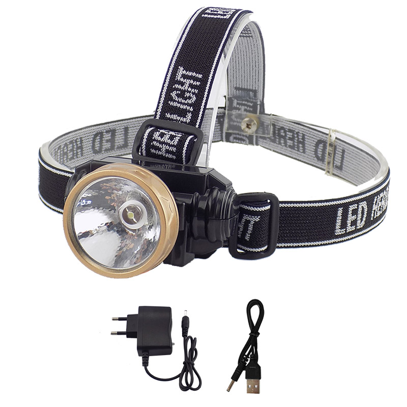 цена на Rechargeable Headlamp Powerful LED Headlight Frontale Light Head Lamp Super Bright Torch For Night Fishing Hunting Camping
