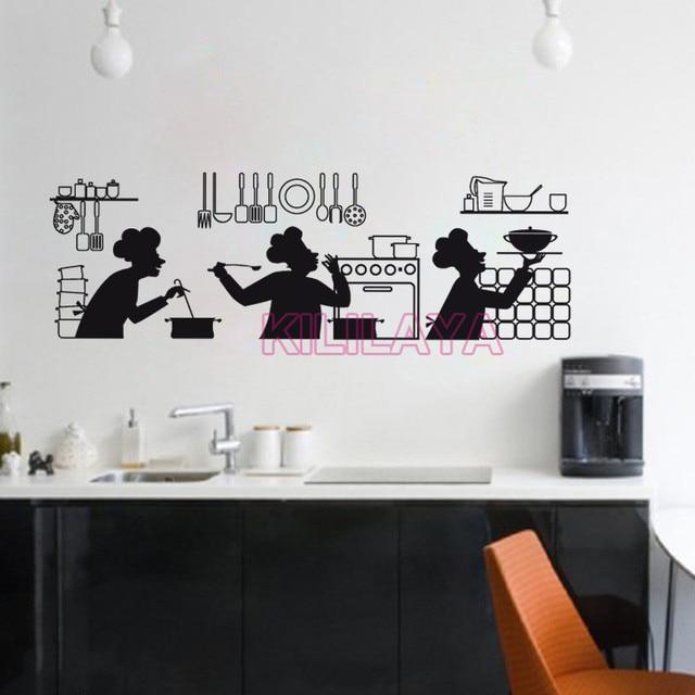 Adesivi Cucina Adesivo Da Parete In Vinile Smontabile Murale ...