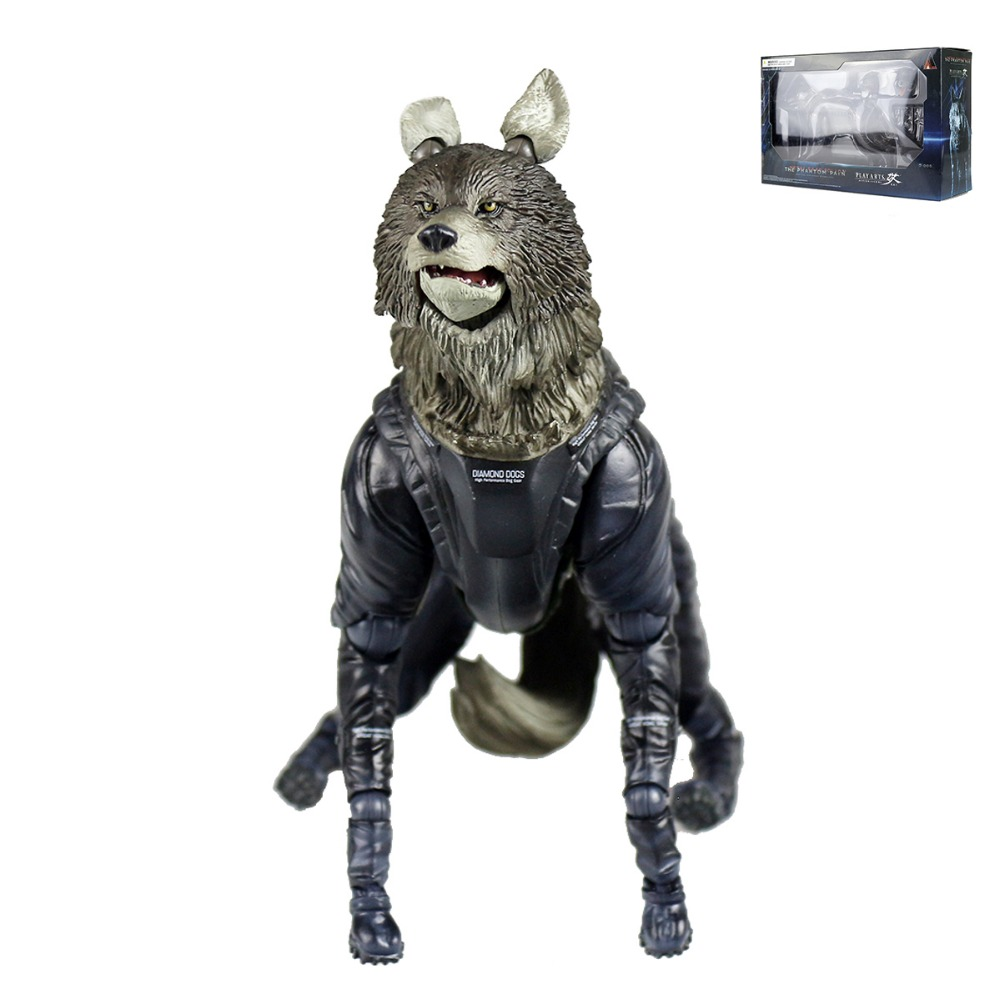 Play Arts Kai Metal Gear Solid V The Phantom Pain D-DOG PVC Action Figure PAK001054 play arts kai metal gear solid v the phantom pain man on fire pvc action figure collectible model toy 28cm kt3409