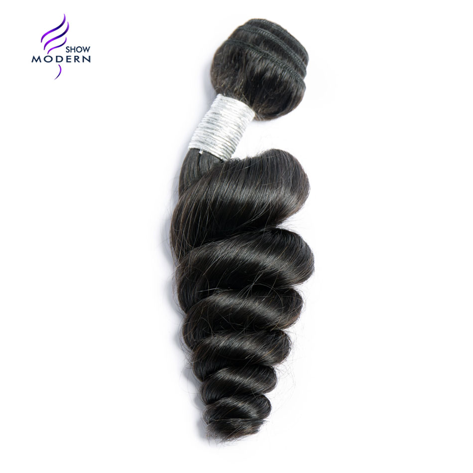 Modern Show Hair Brazilian Loose Wave 100% Human Hair Bundles Natural Remy Hair Extensions 10-28 1 3 Pcs Only Free Shipping