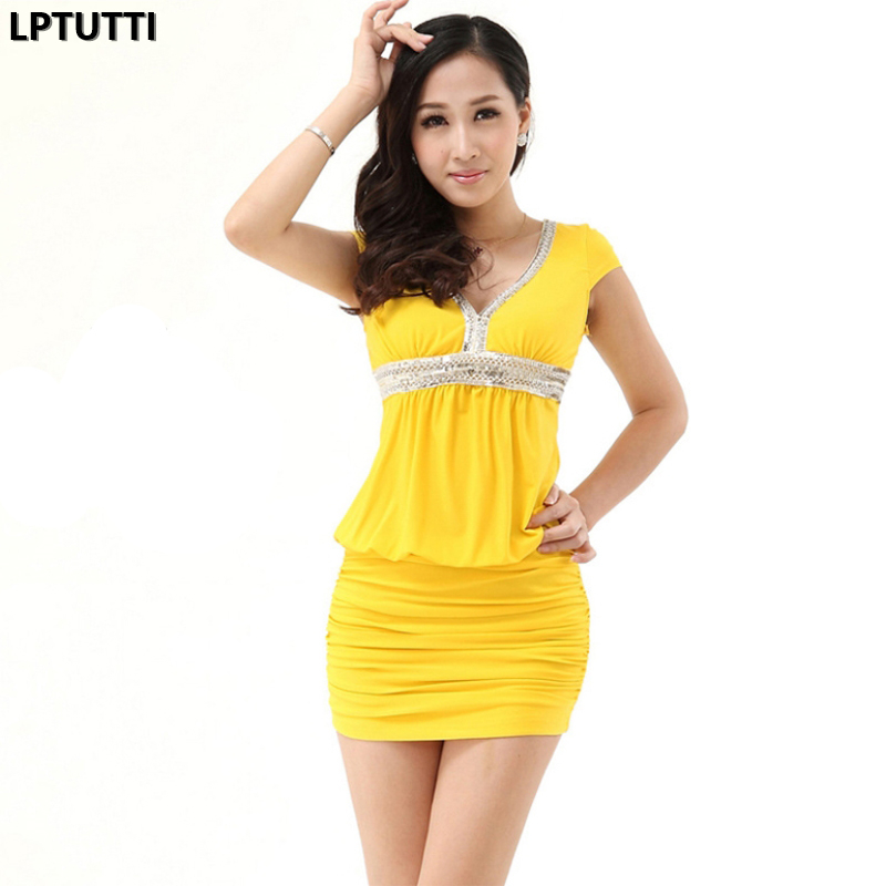 LPTUTTI Sequin Chiffon New Sexy Woman Social Festive Elegant Formal Prom Party Gowns Fancy Short Luxury   Cocktail     Dresses