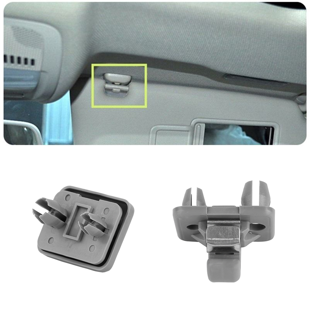 1Pc New Grey Car Interior Sun Visor Hook Clip Bracket For Audi A1 A3 A4 A5