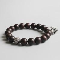 Eastisan 2017 Natural Sander Wood Bead Tibetan Buddhist Vajra Charm Bracelet For Man Women Prayer OM