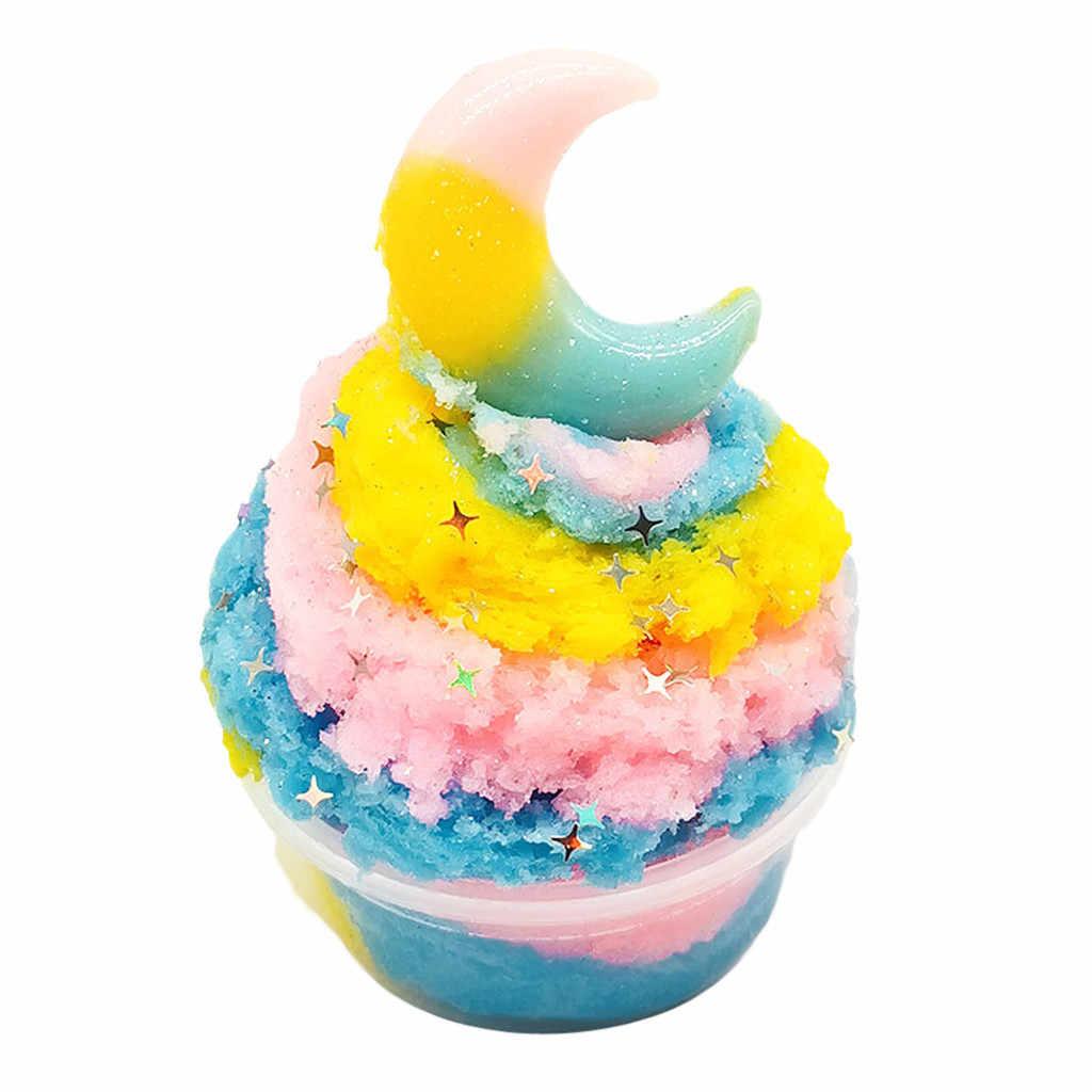 Soffici Floam Slime Bella Luna Nuvole Colorate Slime Stucco Profumata Lo Stress per Bambini 60 Ml Antistress Giocattolo di Creta Stucco Dropshipping