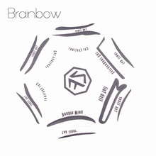 Brainbow 6 Style in 1 Cosmetics Eyeshadow Cat Smokey Eye Stencils Eyebrow Stencil Shadow Models Template Urban Face Makeup Tools(China)