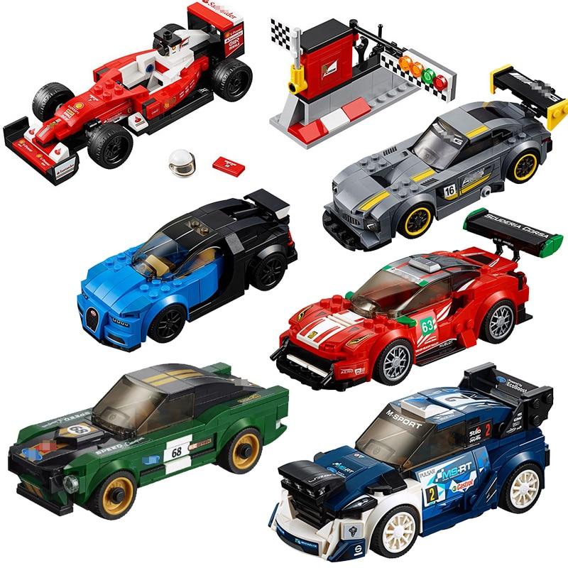 Lepin Technic Speed Champions Supercar modelo bloques de construcción ladrillos figuras Racing Car bugattied juguetes Compatible con legoINGly
