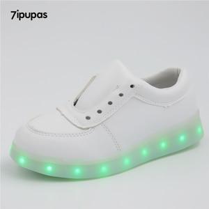 Image 4 - 7ipupas Basket Colorful Luminous sneakers Unisex kids led shoes Homme Femme Lumineuse Schoenen Light Up Chaussures glowing shoes