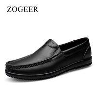 Comparar ZOGEER Talla 38-47 nuevo zapatos de los hombres, Transpirable Cuero geniuno zapatillas hombre mocasines tenis, 2017 Moda calzado zapatos hombre casual