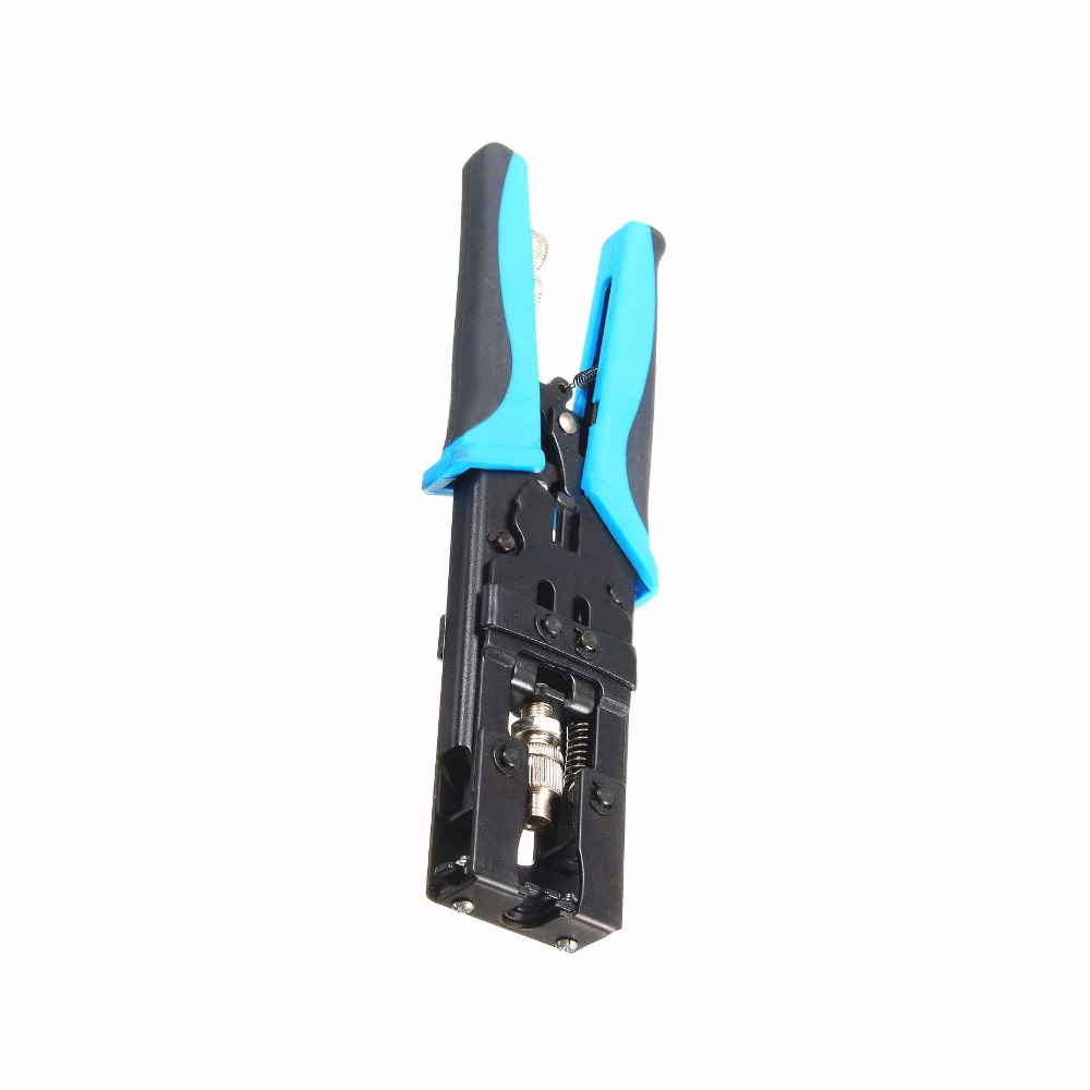 1pc High Strength Coax Compression Crimper Tool BNC/RCA/F Connector RG59/58/6 Coaxial Cable Wire Crimping Pliers 225mm Mayitr цены