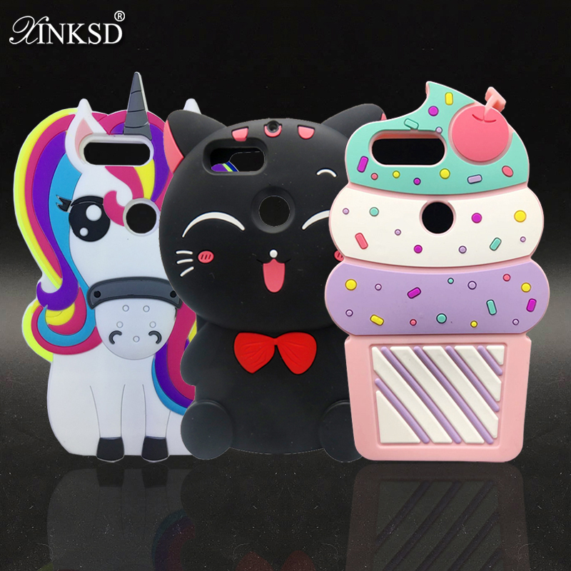 3D Cartoon unicorn Lucky Cat Cupcake Ice Cream Soft Silicone Back Cover Phone Case For ONEPLUS 5t Coque Case for oneplus 5 T