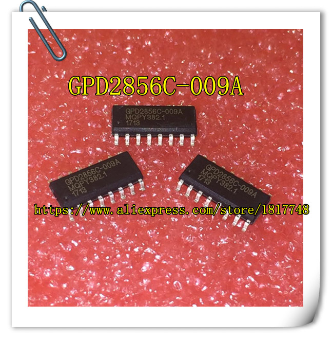 Free Shipping   10PCS/LOT  GPD2856C-009A GPD2856C SOP16 2856C Original MP3 Decoder Chip