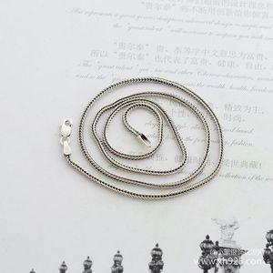 Image 3 - 925 סטרלינג כסף שרשרת, עבה 1.6mm נחש שרשרת עצם נקבה כסף הוא 70 cm ארוך