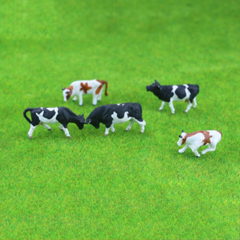 New 10pcs 1:87 Diy HO Scale Colorful Cow Model Train Layout Model Building Toys Baby Love