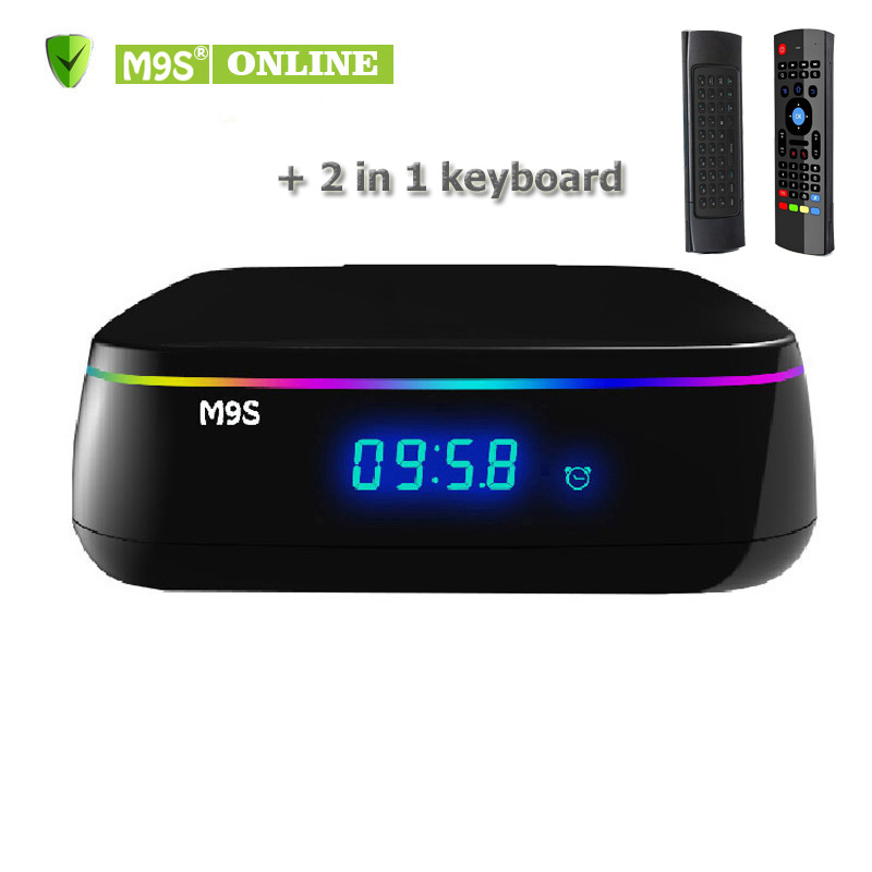 M9S MIX 4K TV BOX Amlogic S912 Octa Core 64-bit Android6.0 2G+16G Jarvis 16.1 Dual Band Wifi 2.4G+5GTop box 2 in 1 MX3 Air Mouse настольные часы uniel bv 14bsk