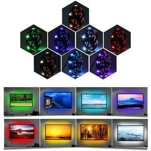 Image 4 - TV arkaplan ışığı RGB LED şerit 5050 su geçirmez 5V USB LED şerit dize aydınlatma APP ile Bluetooth denetleyicisi TV PC monitörü dekor