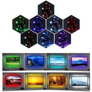 Image 4 - テレビバックライト rgb led ストリップ 5050 防水 5 v usb led テープストリング照明 app の bluetooth テレビ pc モニターの装飾