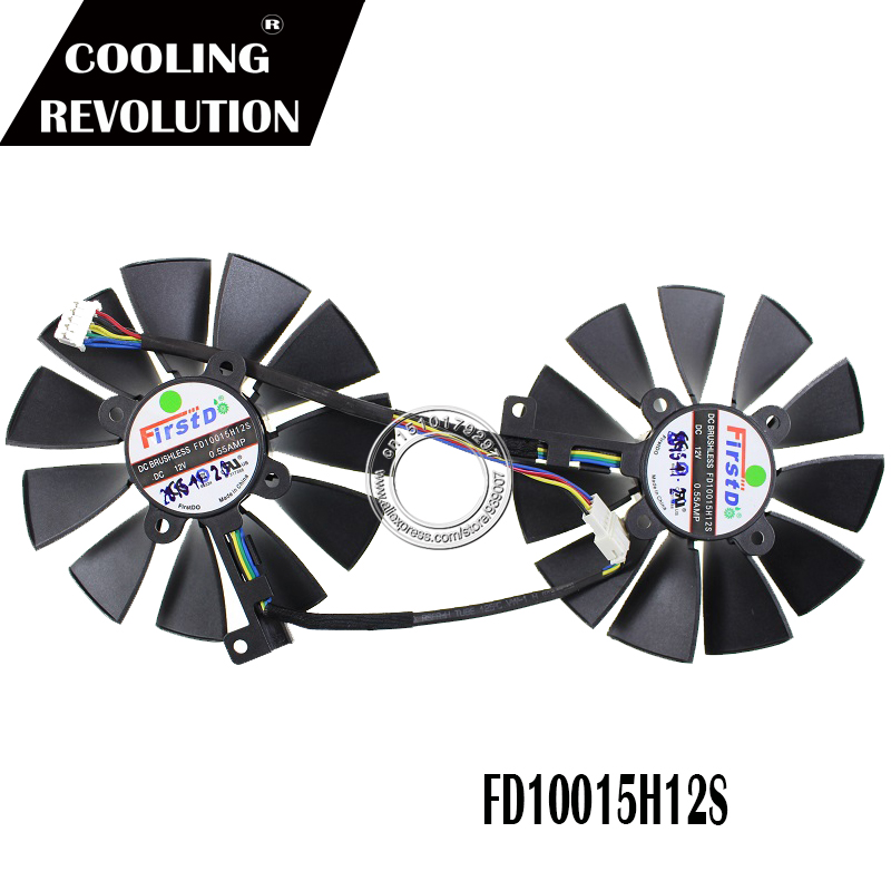 92mm FD10015H12S Graphics / Video Card Cooler Fan 12V 0.55AMP FOR ASUS ROG MATRIX GTX 980Ti P 6G GTX980TI Graphics COOLING FAN