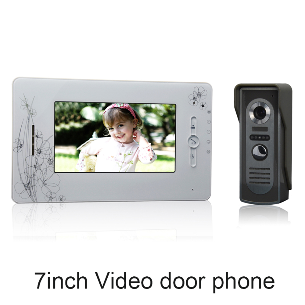 (1 set) Smart Home Door Intercom System One to One Video Door Phone 7 inch Display Door Access Control intercom Telephone 7 inch password id card video door phone home access control system wired video intercome door bell