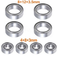 8P Ball Bearings 4x8x3mm 8x12x3 5mm For HSP Himoto E18 WLtoys 1 18 RC Car Spare