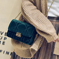 Woman Messenger Bags 2016 Crossbody Shoulder Handbag Fashion Handbags Diamond Lattice Velour Shanel Bag Bolsas Feminina