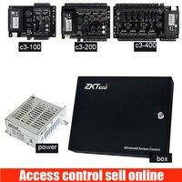Однодверная панель управления доступом TCP/IP c3 100 система контроля доступа с блоком питания 12V3A и металлической защитой